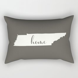 Tennessee is Home - White on Charcoal Rectangular Pillow