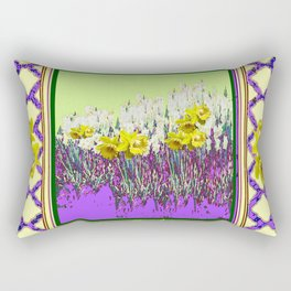 PANTENE ULTRA VIOLET PURPLE DAFFODIL GARDEN DECORATIVE ART Rectangular Pillow