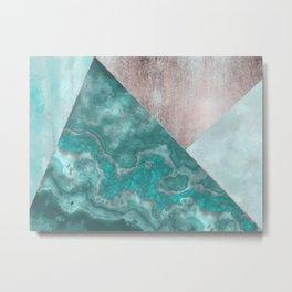 Gemstone And Geode Triangles Metal Print