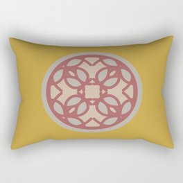 circle floral-yellow Rectangular Pillow
