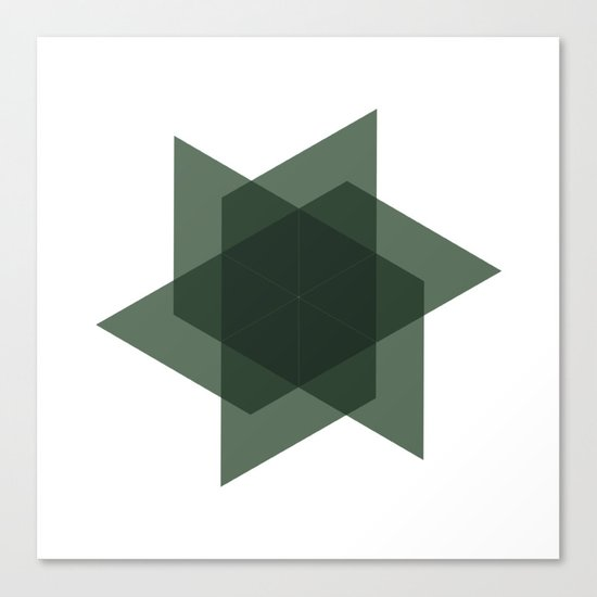 #226 Intersection – Geometry Daily Canvas Print