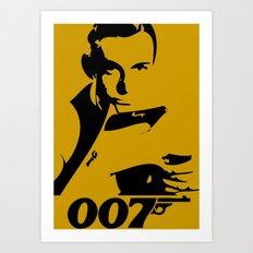 007 James Bond Art Print