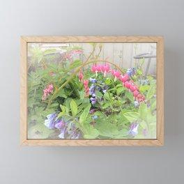 Floral Fantasy Bleeding Hearts and Bluebells Framed Mini Art Print