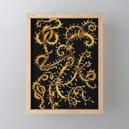 gold vine Framed Mini Art Print