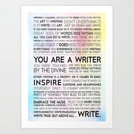 Writer Writer Manifesto Art Print