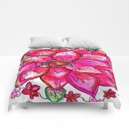 Vibrant Watercolor Flower Comforters