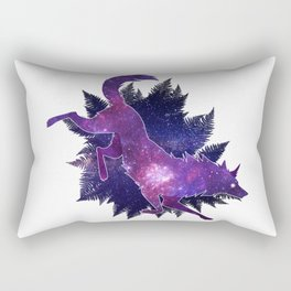 Astral Wolf Rectangular Pillow