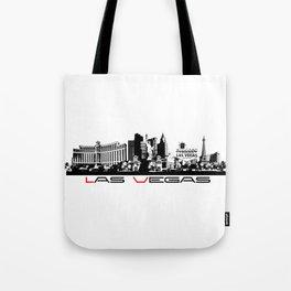 Las Vegas skyline black Tote Bag