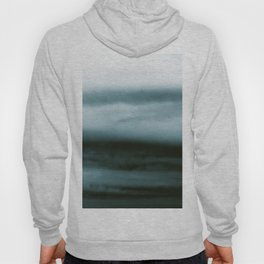 WHITE & BLUE & BLACK TOUCHING #4 #abstract #decor #art #society6 Hoody