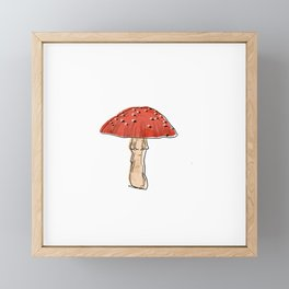 Fly Agaric Mushroom Framed Mini Art Print