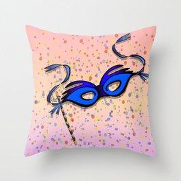 Mardi Gras Masquerade Throw Pillow