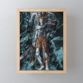 Ifrit ffxv astral corrupted artwork Framed Mini Art Print