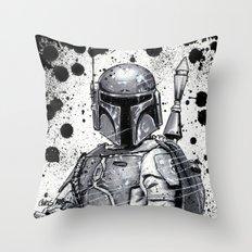 Boba Fett: Bounty Hunter Throw Pillow