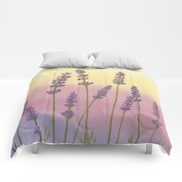 Lavender in Sunset Comforters