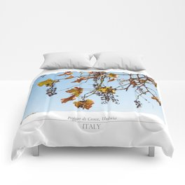 Autumn grapes Comforters