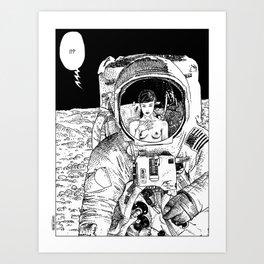 asc 333 - La rencontre rapprochée ( The close encounter) Art Print