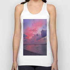 Swimming Towards Sundown Unisex Tank Top