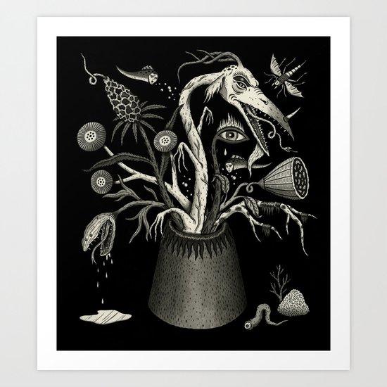 Fierce Bouquet Art Print
