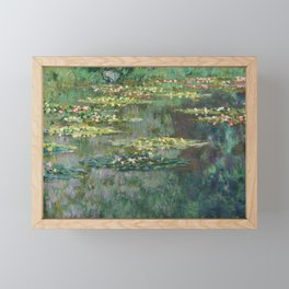 Water Lilies 1904 by Claude Monet Framed Mini Art Print