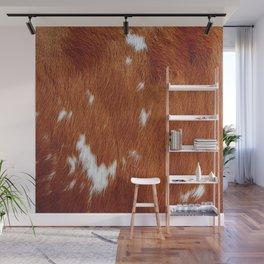 Tan Cowhide Smooth Texture Wall Mural
