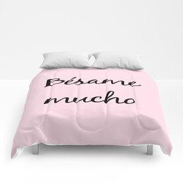 Besame mucho Pink Comforters