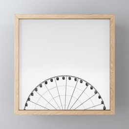 1/2 Ferris Wheel Framed Mini Art Print