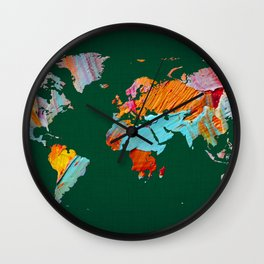 World Map 23 Wall Clock