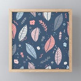 Floating Feathers Pink & Blue Framed Mini Art Print