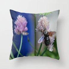 Carpenter Bee 1 Throw Pillow