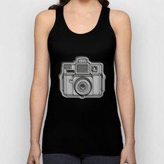 I Still Shoot Film Holga Logo - Black Unisex Tank Top