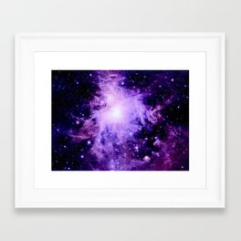 Orion nebUla. : Purple Galaxy Framed Art Print