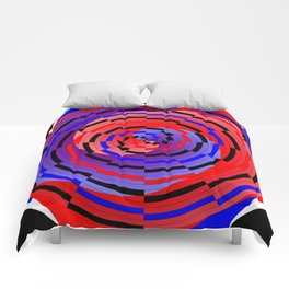 Red & Blue Counter Spiral Comforters