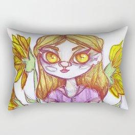 Sunflower Doll Rectangular Pillow