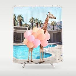 Giraffe Palm Springs Shower Curtain