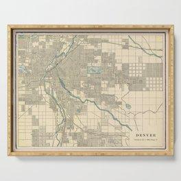 Vintage Map of Denver Colorado (1901) Serving Tray