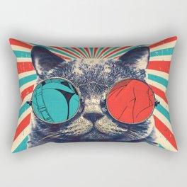 The Spectacled Cat Rectangular Pillow