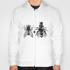 a fly marrying a bumblebee Hoody