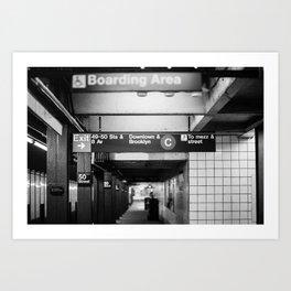 Train Station Print New York Print Subway Sign Print Subway Pole Print Home Art Print NYC Wall Art Classic New York Print