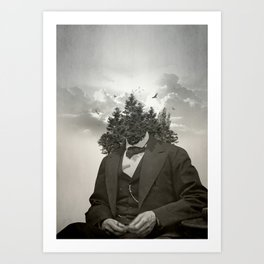 Head in the clouds II Art Print