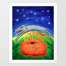 Dogfire Art Print