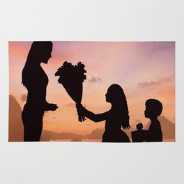 Mother and Children Rug