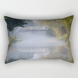 Canal bridge in the mist Rectangular Pillow