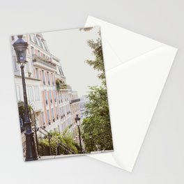 Montmartre Stairs - Paris Travel Photography Stationery Cards