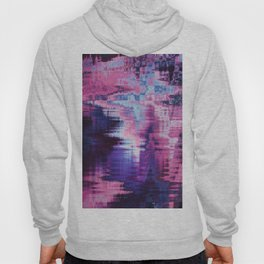 Violet Abstract Glitch effect Hoody