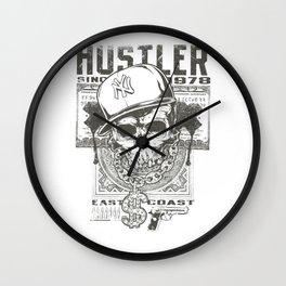 Hustler Skull Wall Clock