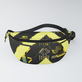 Golden abstract chevron Fanny Pack