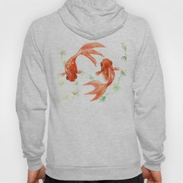 Koi Fish, Feng Shui, Goldfish art, Two fish, Hoody