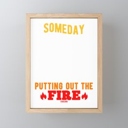 Fire extinguisher use Rescue Service Held Framed Mini Art Print