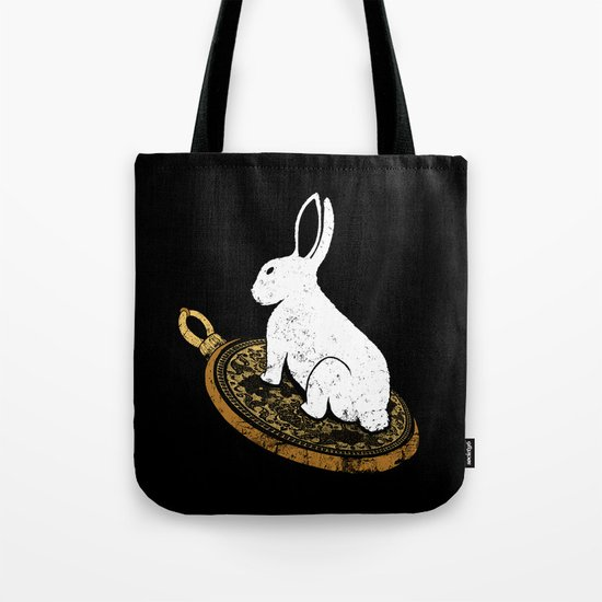 Follow The White Rabbit Tote Bag