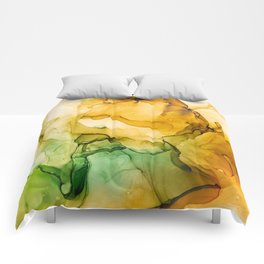 Turning Fall  - Abstract Ink Painting Comforters
